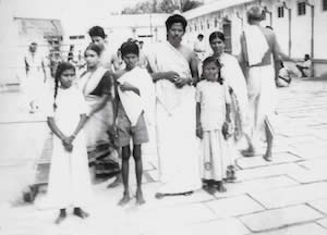 Kaleshwar at 7 years old visiting a temple with his family