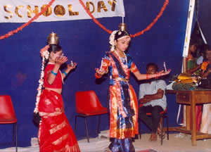 Shilpa dancing during a school function